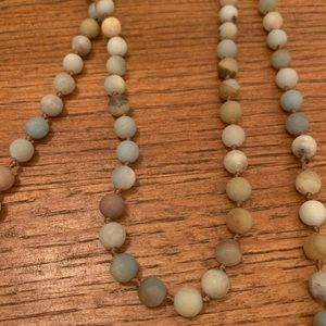 Extra Long Blue Stone Necklace